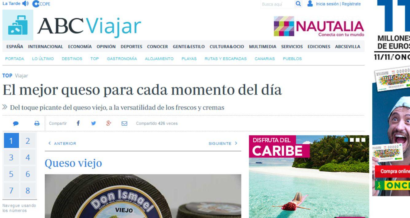 "El diario ABC aconseja Queso ""Don Ismael"""